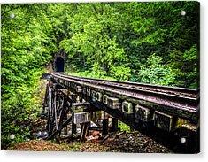 Carolina Railroad Trestle Acrylic Print by Debra and Dave Vanderlaan