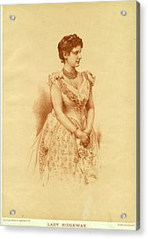 Caroline Lady Ridgeway  Wife Of Sir Acrylic Print by Mary Evans Picture Library