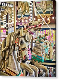 Carousel At Casino Pier Acrylic Print by Colleen Kammerer