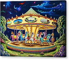 Carousel Dreams 3 Acrylic Print by Andy Russell