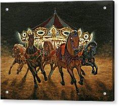 Carousel Escape At Night Acrylic Print by Jason Marsh