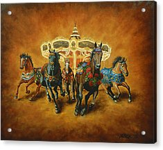 Acrylic Print featuring the painting Carousel Escape by Jason Marsh