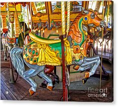Carousel Horse - 03 Acrylic Print by Gregory Dyer