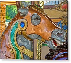 Carousel Horse - 04 Acrylic Print by Gregory Dyer