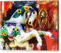 Carousel Horse Closeup Acrylic Print
