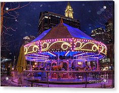 Carousel In Boston Acrylic Print