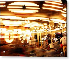 Carousel In Motion Acrylic Print