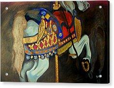 Carousel Acrylic Print by John Stevens