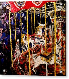 Carousel  Main Attraction  Acrylic Print by Mark Moore