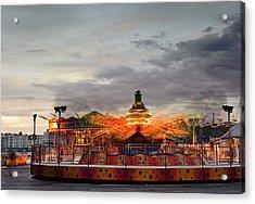 Carousel Acrylic Print by Matthew Gibson
