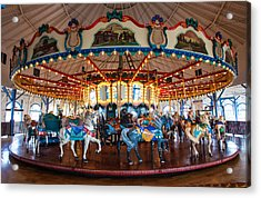 Acrylic Print featuring the photograph Carousel Ride by Jerry Cowart