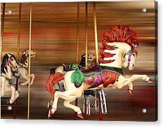 Carousel Rush Acrylic Print by Edwin Verin