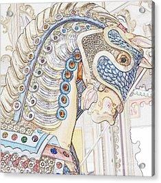 Carousel Stallion Acrylic Print
