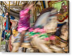 Carousel Acrylic Print by Susan Cole Kelly Impressions
