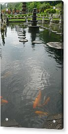 Carp Pond Bali Acrylic Print by Jack Edson Adams