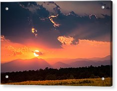 Acrylic Print featuring the photograph Carpathian Sunset by Mihai Andritoiu