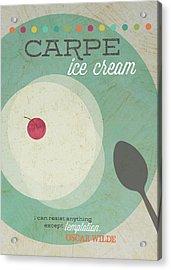 Carpe Ice Cream Acrylic Print