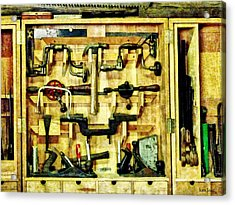Carpenter - Woodworking Tools Acrylic Print by Susan Savad