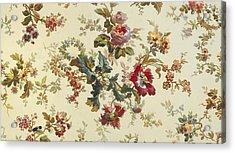 Carpet Design Acrylic Print by English School