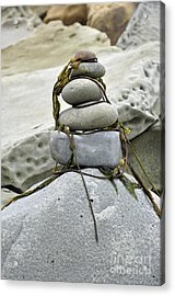 Acrylic Print featuring the photograph Carpinteria Stones by Minnie Lippiatt