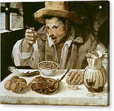 Carrache, Annibale. The Beaneater. Ca Acrylic Print by Everett