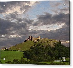 Carreg Cennen Castle North Face Acrylic Print by Anthony Forster