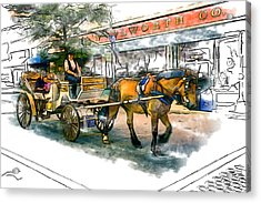 Carriage Ride Acrylic Print by John Haldane