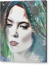 Carrie Under Veil Acrylic Print
