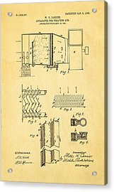 Carrier Air Conditioning Patent Art 1906 Acrylic Print