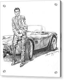 Carroll Shelby And Csx 2000 Acrylic Print