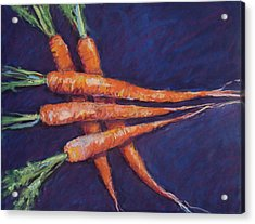 Carrot Stack Acrylic Print by Kelley Smith