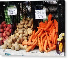 Carrots Potatoes And Honey Acrylic Print by Susan Savad