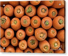 Carrots Acrylic Print by Rick Piper Photography