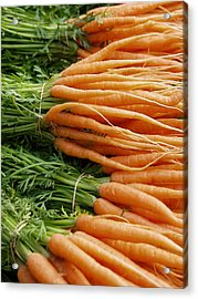 Acrylic Print featuring the digital art Carrots by Ron Harpham