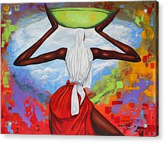 Carry On Acrylic Print by The Art of DionJa'Y