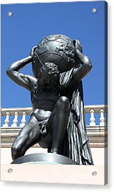 Carry The Earth - Atlas At The Ringling Museum Acrylic Print by Christiane Schulze Art And Photography