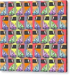 Cars Abstract  Acrylic Print by Mark Ashkenazi