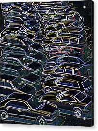 Cars In A Car Park Acrylic Print by Sheila Terry/science Photo Library