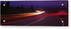 Cars Moving On The Road, Mount Desert Acrylic Print by Panoramic Images