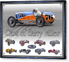 Cars Of Harry Miller Acrylic Print