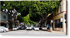 Cars On The Road In Downtown San Luis Acrylic Print by Panoramic Images