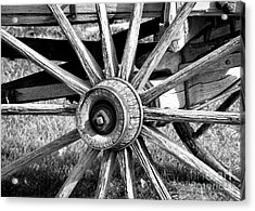 Acrylic Print featuring the photograph Cart Wheel by Mae Wertz