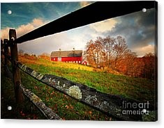 Carter Farm Connecticut Acrylic Print by Sabine Jacobs