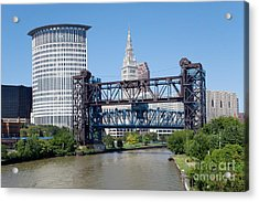 Carter Road Lift Bridge Acrylic Print by Bill Cobb