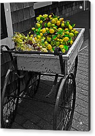 Cartful Of Lemons And Apples Acrylic Print by John Hoey
