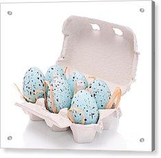 Carton Of Easter Eggs Acrylic Print by Amanda Elwell