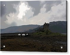 Cartoon - The Eilean Donan Castle Along With The Stone Bridge In Front Acrylic Print