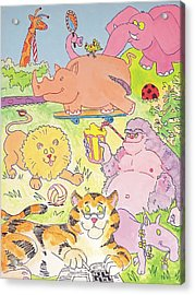 Cartoon Animals Acrylic Print