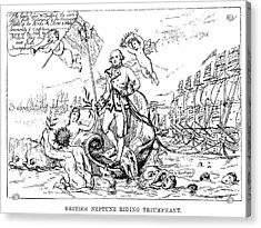 Cartoon British Neptune Acrylic Print by Granger