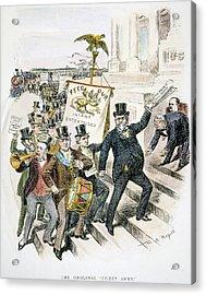 Cartoon Coxey Army, 1894 Acrylic Print
